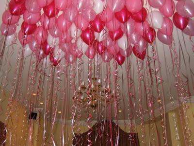 Varias ideas para decorar con globos for Decoracion de cuartos 14 de febrero